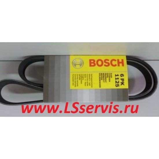Ремень приводной BOSCH 6PK1125 ЛАДА/ВАЗ 2170 ПРИОРА с кондиционером