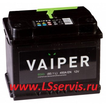 Аккумулятор VAIPER/ВАЙПЕР 6СТ-60А/ч прямая полярность