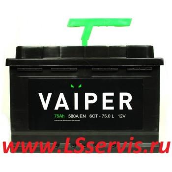 Аккумулятор VAIPER/ВАЙПЕР 6СТ-75А/ч прямая полярность