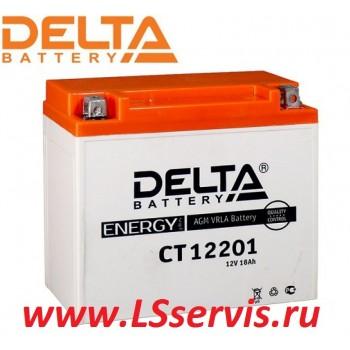 Мото аккумулятор ДЕЛЬТА/DELTA CT12201 YTX20L-BS 6CT18